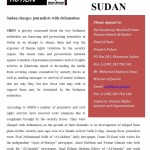 PDF- Sudan charges journalists with defamation ‏
